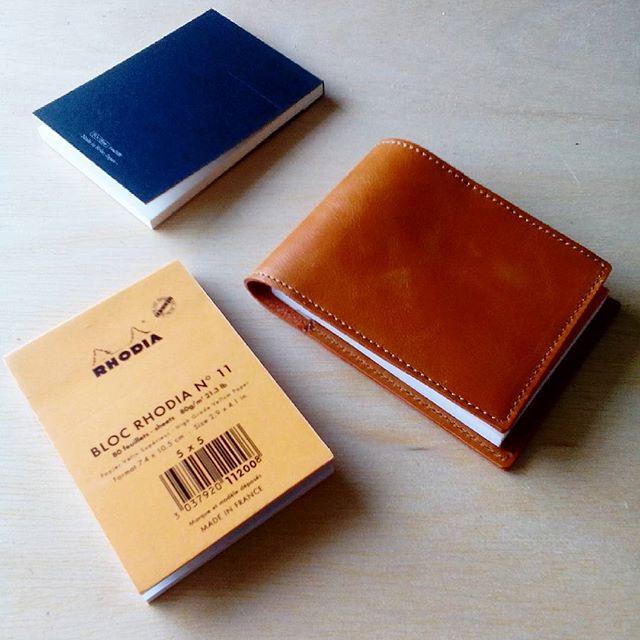 ロディアNo.11用カバー#お客様の声 #craft #favorpoco #aging #leather #rhodia #ロディアカバー #レザー