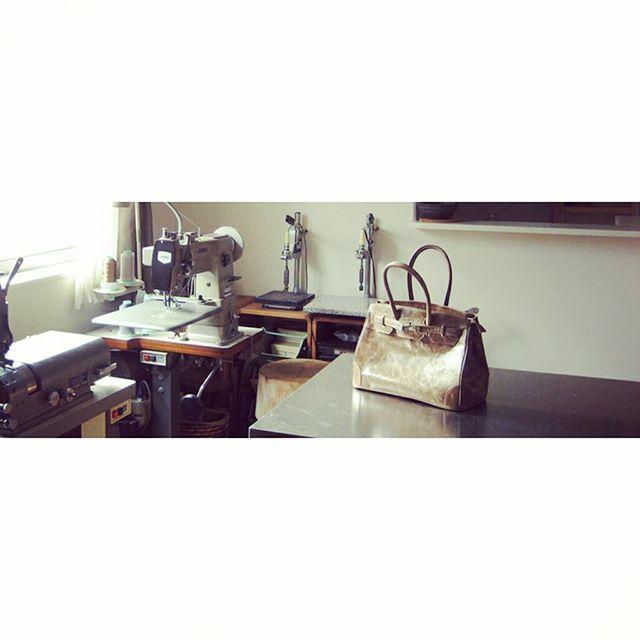 #bag #aging #favorpoco #aginglabo #studio #atlier #workspace