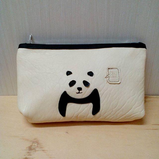#panda #panda #パンダ #pouch #ポーチ #aginglabo #aging #favorpoco #leather #レザー