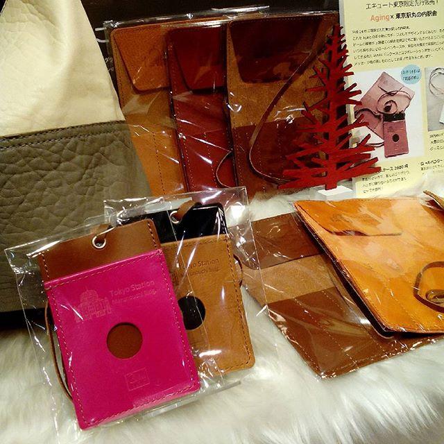 #knockcaravan #aging #leather #エキュート東京 #favorpoco #passcase #東京駅丸の内駅舎