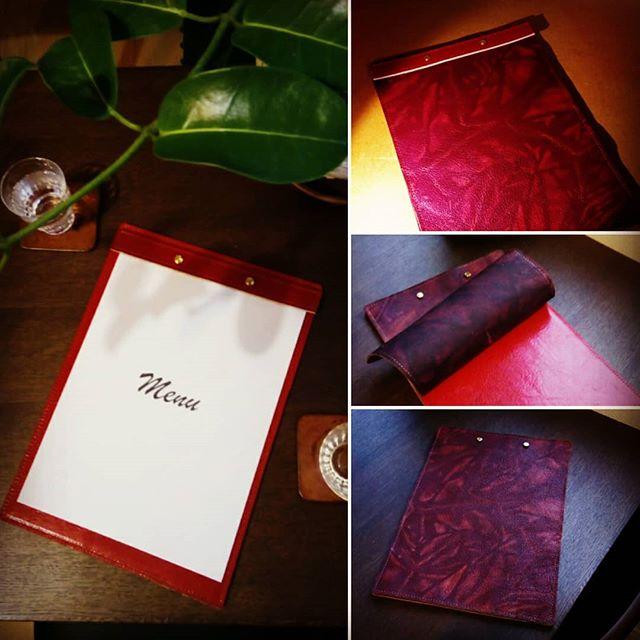 トライアルのため、こちらにアップ。新しいスタイルのメニューカバーです。柔らかい革を生かしたデザイン。#menubook #menu #restaurant #bar #wine #leathercraft #leather #革 #hotel #desighner #desighn #cafe #bistro #food #dish #interior #メニューブック #メニュー #レストラン #ラウンジ #ホテル #店舗設計 #店舗デザイン #デザイン #カフェ #スイーツ #ビストロ #ワイン 19:16