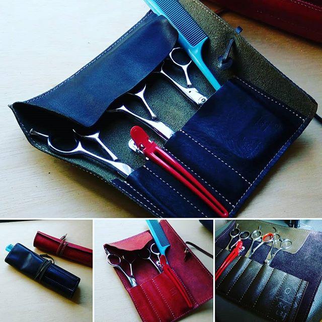 ロールペンケースにハサミを収納なさりたいというリクエスト。ハサミ4丁の場合、ハサミの間にダッカールを入れていき、ポケットを増やす案を。コームは上に少し飛び出す感じ。#scissorscase #scissorcase #シザーケース #beautician #美容室 #美容師 #leather #leatherbag #toolcase #uniform #bag #aging #aging_inc #favorpoco #aging_labo #menubook #エイジング #革製品 #革小物 #革 #craft #leathercraft #レザー #バッグ #epron #エプロン #ベルト #design #desighner #店舗デザイン 9:24