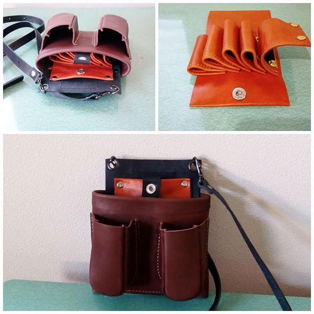 Scissors case No.705(手縫い)中を機能的にしてあります。今のところ、お使いになりやすいようです。お掃除しやすいか、またお知らせくださいませ#scissorscase #scissorcase #シザーケース #beautician #美容室 #美容師 #leather #leatherbag #toolcase #uniform #bag #aging #aging_inc #favorpoco #aging_labo #menubook #エイジング #革製品 #革小物 #革 #craft #leathercraft #レザー #バッグ #epron #エプロン #ベルト #design #desighner #店舗デザイン 18:24