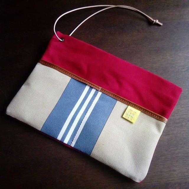 バッグインバッグgadgetの外ポケットを、一本のステッチのみにしたカスタマイズです。お待たせいたしました。#バッグインバッグ #バッグINバッグ #gadget #agingstore #favorpoco #aging #lethercraft